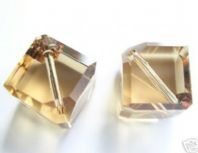 Golden Shadow 5600 Swarovski Diagonal Cube Beads 6mm PK2